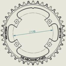 BCD 110-asymmetrisch, Shimano Ultegra/Dura Ace